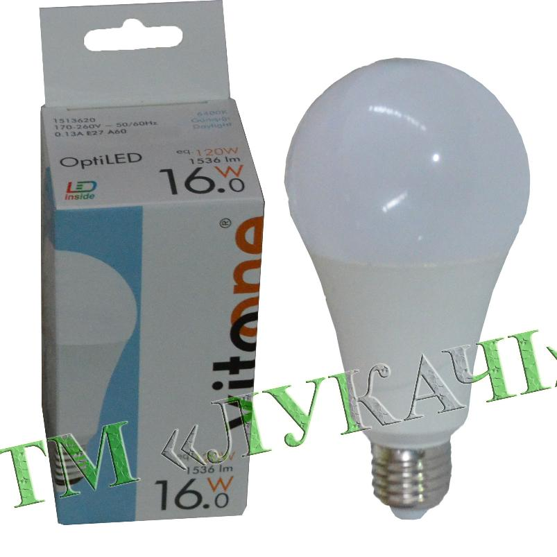 Лампа LED VITOONE A60 16W E27 6400K Optiled 1513620