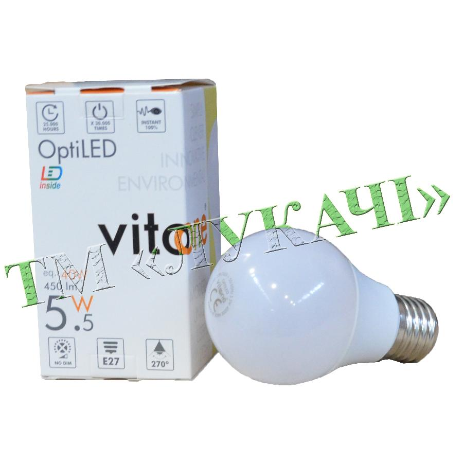 Лампа LED VITOONE A60 5,5W E27 4000K Optiled 1500480