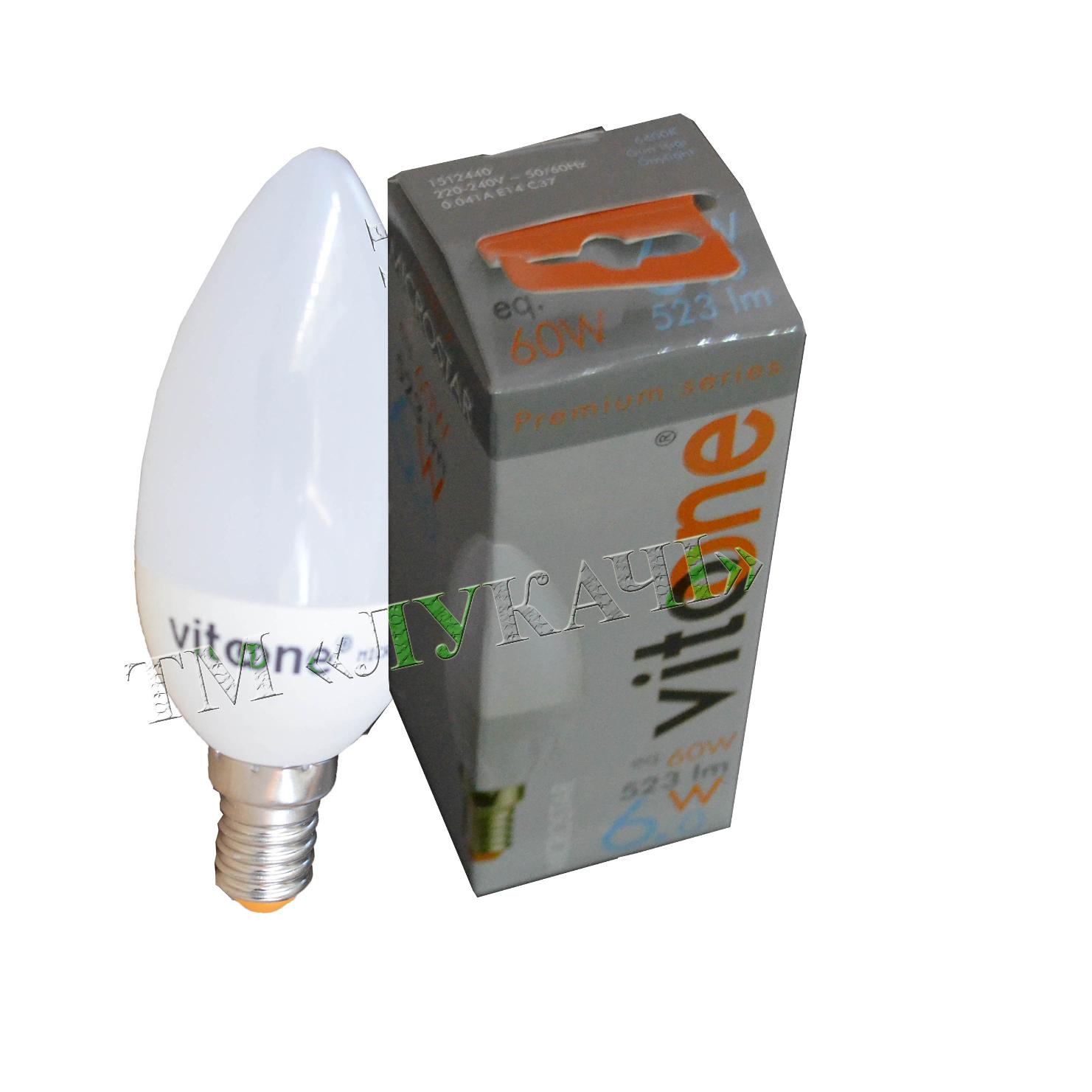 Лампа LED VITOONE C37 3,5W E14 6400K Optiled свіча мат 1500610