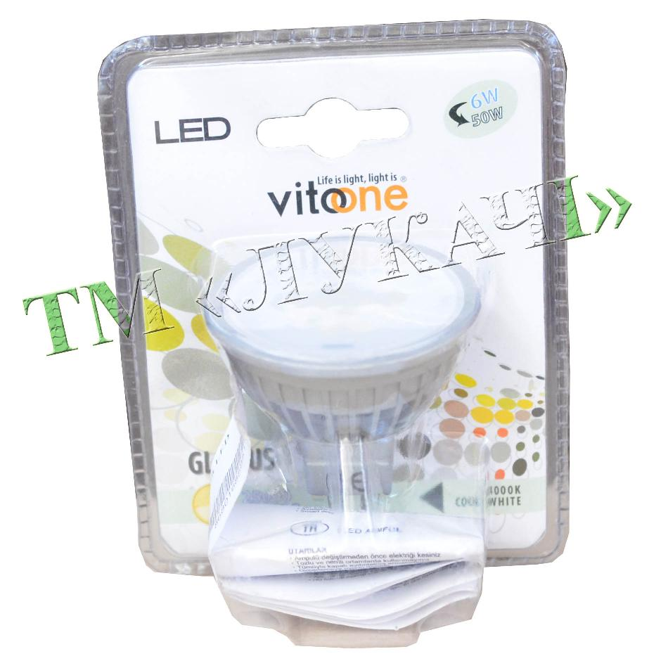 Лампа LED VITOONE MR16 6W G5.3 220V 4000K 1511951 (1511060)