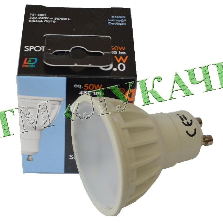 Лампа LED VITOONE MR16 6W GU10 220V 6400K 1511801 / 1512620