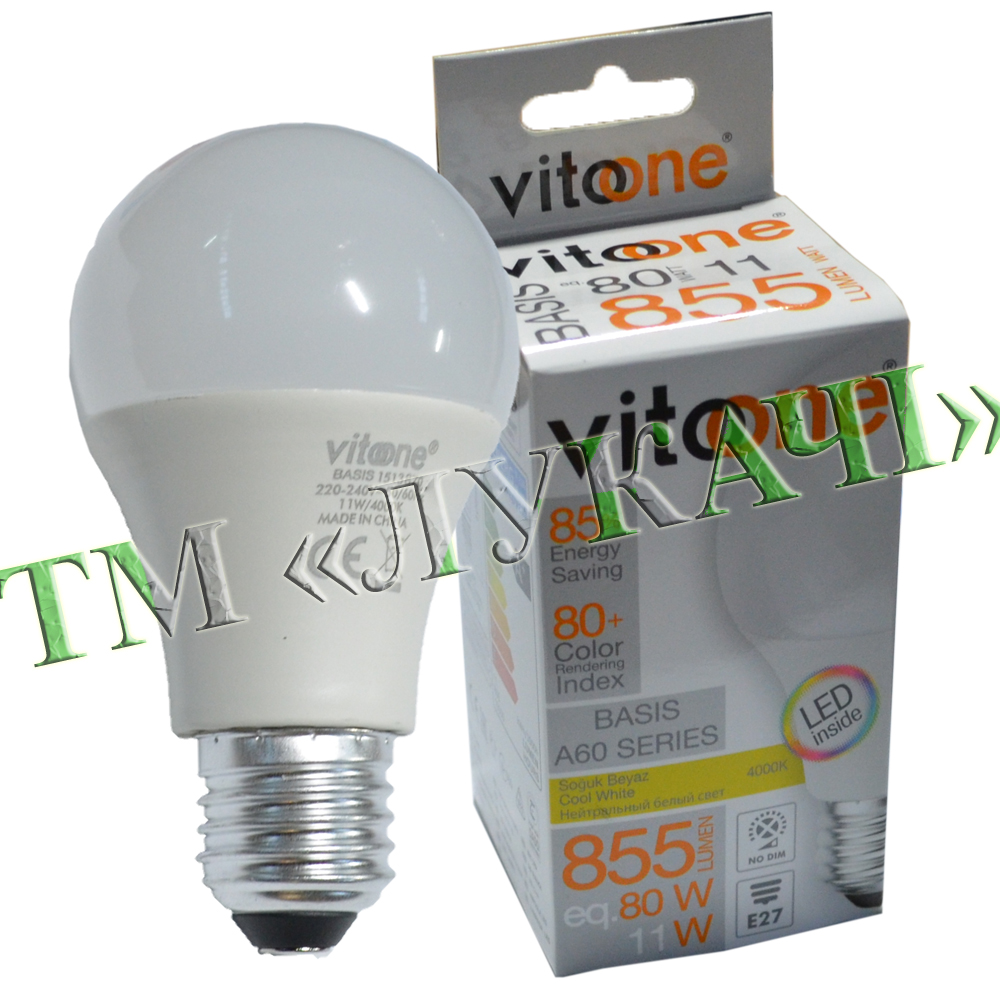 Лампа LED VITOONE BASIS A60 11W E27 4000K Optiled 1513870
