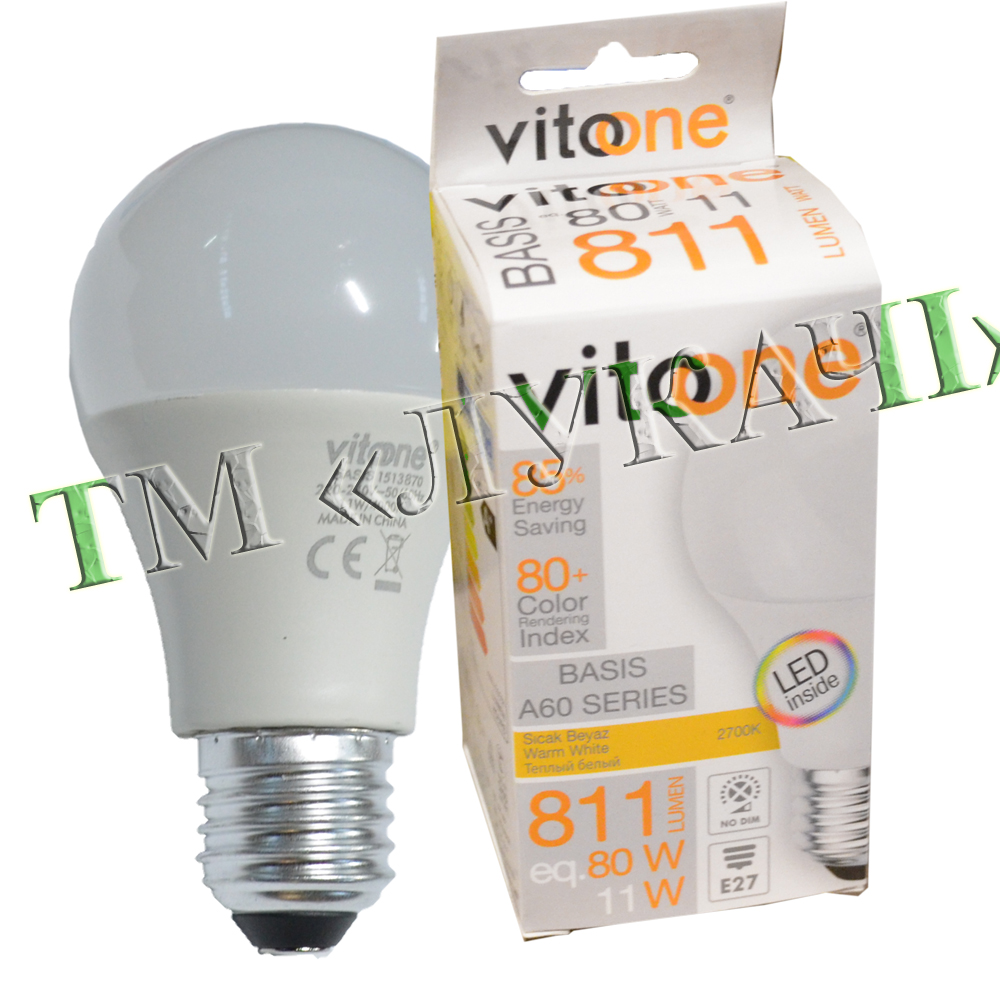 Лампа LED VITOONE BASIS A60 11W E27 2700K Optiled 1513880
