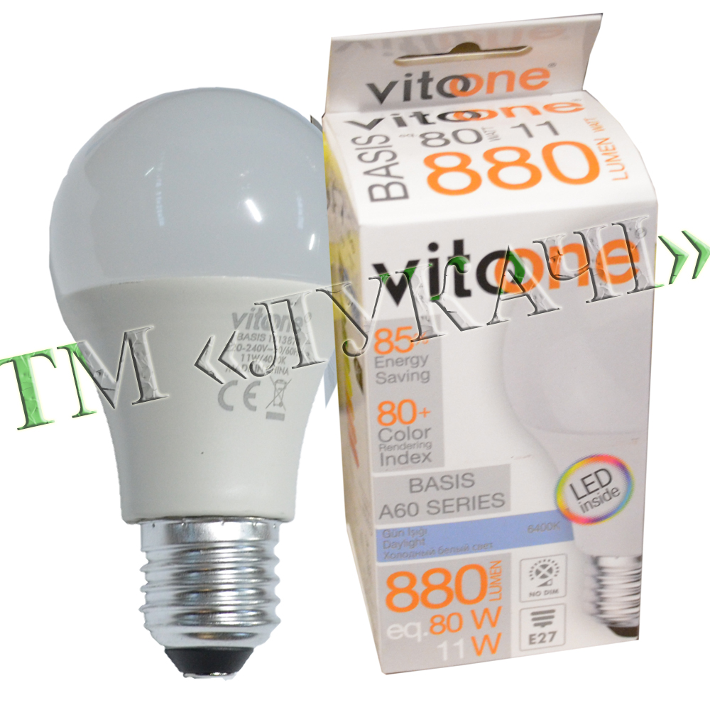 Лампа LED VITOONE BASIS A60 11W E27 6400K Optiled 1513860