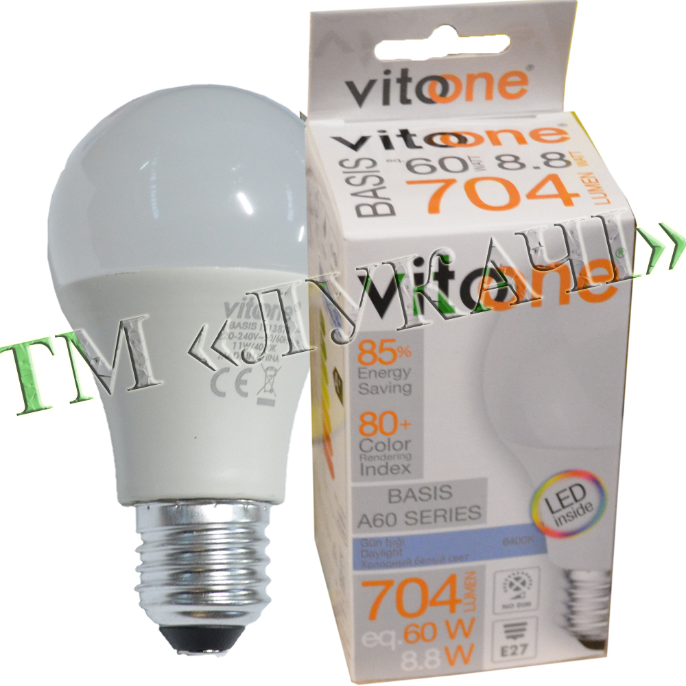 Лампа LED VITOONE BASIS A60 8,8W E27 6400K Optiled 1513940