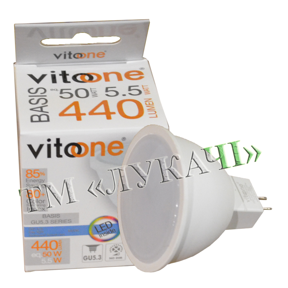 Лампа LED VITOONE BASIS MR16 5,5W G5.3 6400K 1514330