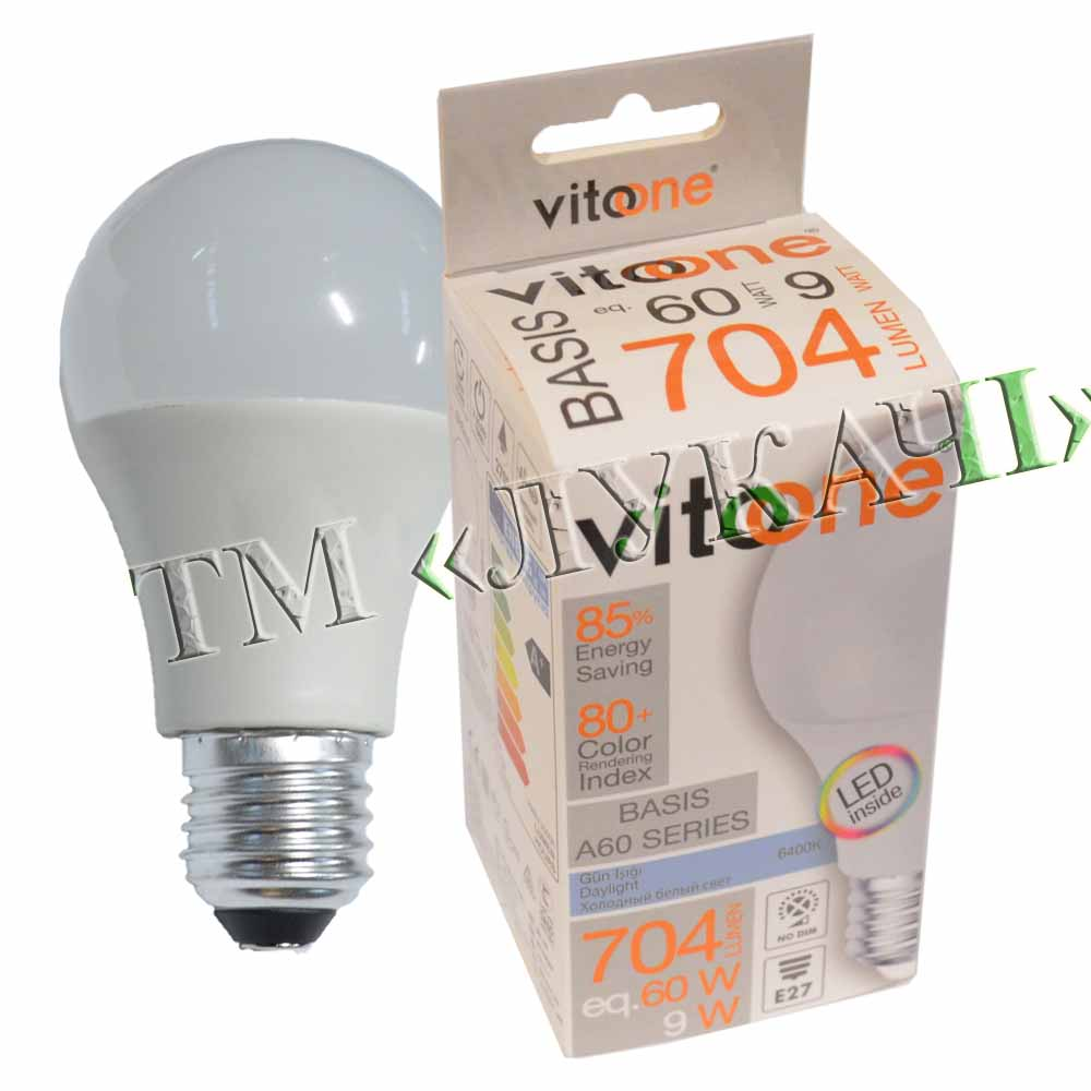 Лампа LED VITOONE BASIS A60 9W E27 6400K Optiled 1513941