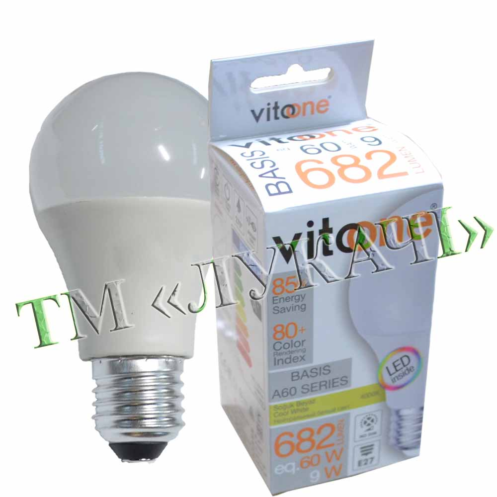 Лампа LED VITOONE BASIS A60 9W E27 4000K Optiled 1513931